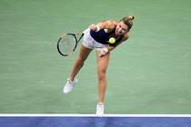Simona Halep, in meciul contra Serenei Williams