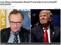 Donald Trump la Larry King/RT