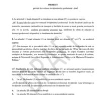 Proiect de lege pentru dezvoltarea invatamantului profesiona-dual