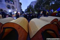 Protestul asa-zisilor unionisti, Piata Universitatii