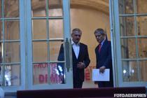 Dragnea si Ciolos la sediul PSD