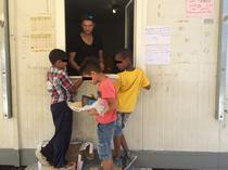 Copii din centrul de refugiati
