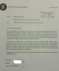 Scrisoarea Ministerului Sanatatii