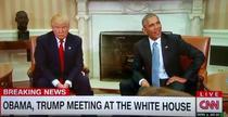 Barack Obama si Donald Trump