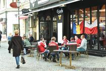 Suporteri polonezi in Centrul vechi al Capitalei