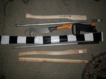 Obiecte descoperite de jandarmi asupra suporterilor polonezi