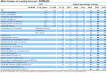 Principalii parametri economici pentru Romania (clic pt a mari)