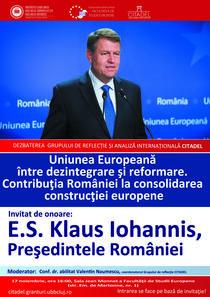 Afis conferinta Klaus Iohannis