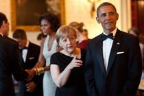 Barack Obama si Angela Merkel