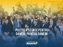 Afis de campanie PNL cu personajele lui Caragiale