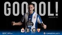 Florin Andone a inscris al doilea gol pentru Deportivo