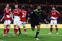 Diego Costa, dupa golul marcat in partida cu Middlesbrough