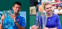 Djokovic si Halep, cu trofeul de la Indian Wells