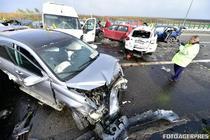Accident in lant pe Autostrada Soarelui