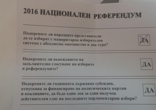 referendum in Bulgaria