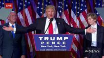 Donald Trump la primul sau discurs ca presedinte