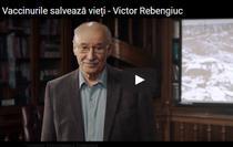 Victor Rebengiuc promoveaza vaccinarea copiilor