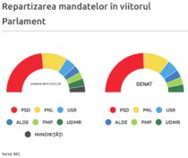 Distributia mandatelor in noul Parlament