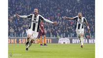 Gonzalo Higuain a decis meciul dintre Juventus si AS Roma