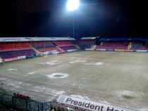Stadionul de la Targu Mures, inainte de inceperea partidei dintre ASA si Pandurii