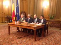 Dragnea, Hunor, Tariceanu si Constantin au semnat acordul de sustinere parlamentara