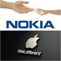 Logo-urile Nokia si Apple