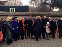 Liviu Dragnea si liderii PSD cu colindatori