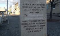 Numele lui Secureanu, sters de pe monumentul Eminescu din Viena