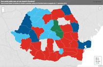Harta cautarilor pe Google - partide politice