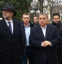 Viktor Orban impreuna cu Kelemen Hunor la Satu Mare