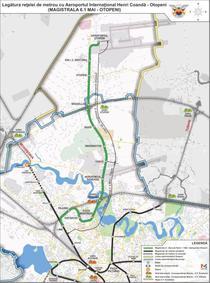 Harta Magistralei 6 de metrou Gara de Nord - Otopeni