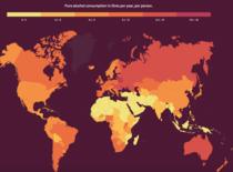 Harta consumului de alcool