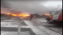 Avion prabusit in Kirghizstan