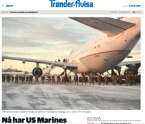 Sosirea a 250 de puscasi SUA, reflectata pe larg in presa norvegiana