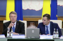 Klaus Iohannis si Sorin Grindeanu la sedinta de Guvern