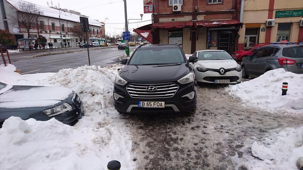 Blocare trotuar
