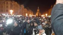 Protestatari in Timisoara