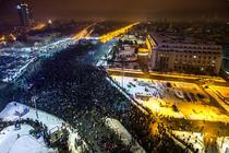 Protest anti-gratiere in Piata Victoriei, 22 ianuarie
