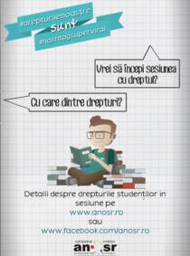 Afis campanie Drepturile studentilor
