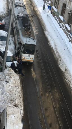 Tramvai blocat (3)