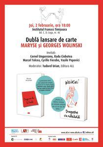Lansare de carte: Maryse si Georges Wolinski