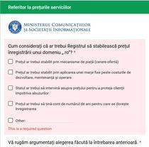 Chestionar privind domeniile .ro