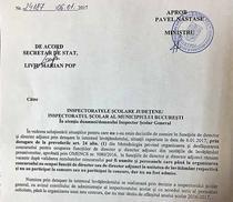 Ministerul Educatiei catre inspectoratele scolare