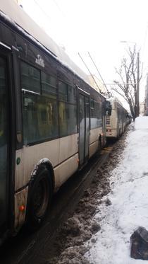 Autobuze blocate