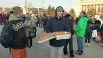 Pizza pentru protestatari