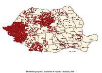 Harta cazurilor de rujeola - 10 februarie