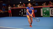 Monica Niculescu, in meciul cu Kirsten Flipkens