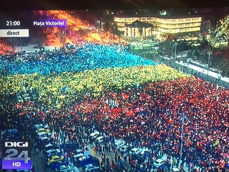VIDEO Protest in inima Bucurestiului cu peste 50 000 de