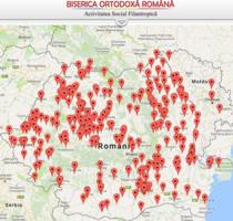 Harta institutiilor si serviciilor sociale ale Bisericii Ortodoxe Romane