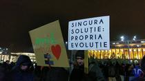 Protest in Piata Victoriei - ziua 15